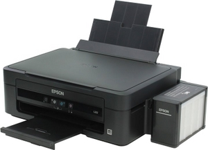 Epson L222 (A4, струйное МФУ, 27 стр/мин, 5760 optimized dpi, 4 краски, USB2.0)
