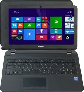 "Hewlett-Packard hp Compaq 15-f100ur M7U98EA#ACB Cel N2840/2/500/DVD-RW/WiFi/BT/Win8/15.6""/2.21 кг"