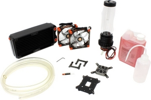 ThermalTake CL-W063-CA00BL-A Pacific RL240 Water cooling KIT вод.охл.(1155/1366/2011/AM2-FM1,20,7дБ,1200об/мин)