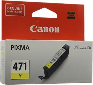 Canon Чернильница Canon CLI-471Y Yellow для PIXMA MG5740/6840/7740
