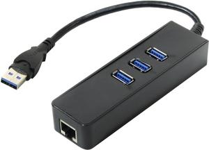 Orient JK-340 USB3.0 Hub 3 port + LAN UTP10/100/1000Mbps