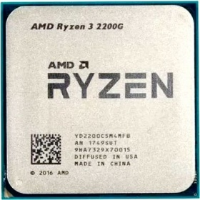CPU AMD Ryzen 3 2200G (YD220OC) 3.5 GHz / 4core / SVGA RADEON Vega 8 / 2+4Mb / 65W Socket AM4