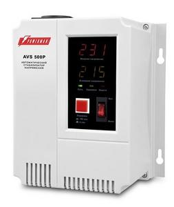 PowerMan Стабилизатор Powerman AVS 500 P (вх.110-260 В, вых.220 В ± 8%, 500ВА, 2 розетки Euro)