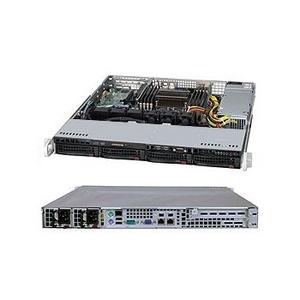 Supermicro 1U 5017R-WRF (LGA2011, C602, 2xPCI-E, SVGA, SATA RAID, 4xHS SAS/SATA, 2xGbLAN, 8DDRIII 500W HS)