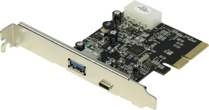 STLab U-1120 (RTL) PCI-Ex4, USB3.1, 1 port-ext, 1 type-C port-ext