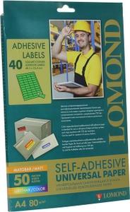 Lomond 2120195 (A4, 50 листов, 80 г/м2) бумага суперкаландрированная самоклеящаяся, зеленая
