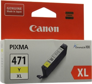 Canon Чернильница Canon CLI-471Y XL Yellow для PIXMA MG5740/6840/7740