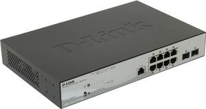 D-Link DGS-1210-10P/ME /A1A Управляемый коммутатор (8UTP 10/100/1000Mbps PoE +2 SFP)