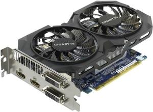 Gigabyte 4Gb PCI-E DDR-5 GIGABYTE GV-N75TWF2OC-4GI (RTL) DualDVI+DualHDMI GeForce GTX750Ti