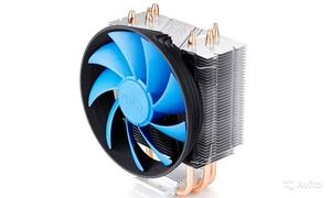 Deepcool DP-MCH3-GMX300 GAMMAXX 300 (4пин, 775/1155/1366/AM2-FM2, 900-1600об/мин, 17.8-21 дБ, Al+тепл.трубки)