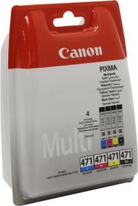 Canon Чернильницы Canon Multipack CLI-471BK/C/M/Y для PIXMA MG5740/6840/7740