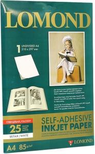 Lomond 2410003 (A4, 25 листов, 85 г/м2) бумага фото глянцевая самоклеящаяся