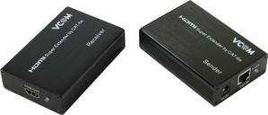 VCOM DD471 HDMI Extender (HDMI 19F- RJ45 - HDMI 19F, до 60м) +2б.п.