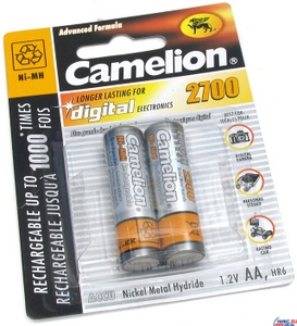 """Аккумулятор Camelion NH-AA2700BP2 (1.2V, 2700mAh) NiMH, Size """"AA"""" уп. 2 шт."""
