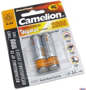 """Аккумулятор Camelion NH-AA2600-2 (1.2V, 2600mAh) NiMH, Size """"AA"""" уп. 2 шт"""
