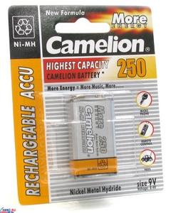 "Аккумулятор Camelion NH-9V250BP1 (8.4V, 250mAh) NiMH, типа ""Крона"""