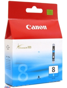 Canon Чернильница Canon CLI-8C Cyan для PIXMA IP4200/5200 (R)/6600D, MP500/800
