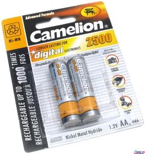 """Аккумулятор Camelion NH-AA2500-2 (1.2V, 2500mAh) NiMH, Size """"AA"""" уп. 2 шт."""