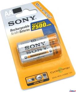 """Sony Аккумулятор Sony NH-AA-2500-2 (1.2V, 2500mAh) NiMH, Size """"AA"""" уп. 2 шт."""