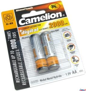 """Аккумулятор Camelion NH-AA2000-2 (1.2V, 2000mAh) NiMH, Size """"AA"""" уп. 2 шт."""