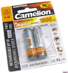 """Аккумулятор Camelion NH-AA1800-2 (1.2V, 1800mAh) NiMH, Size """"AA"""" уп. 2 шт."""