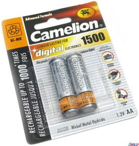 """Аккумулятор Camelion NH-AA1500-2 (1.2V, 1500mAh) NiMH, Size """"AA"""" уп. 2 шт."""