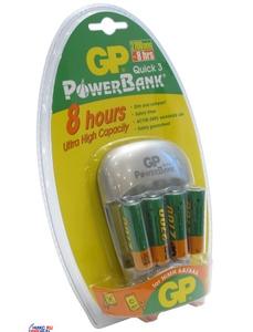GP Зарядное устройство GP GPPB27GS270-C4 PowerBank Quick3 (NiMh, AA/AAA) + AAx4шт. аккум.