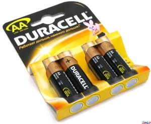 Duracell MN1500-4 (LR6) Size AA, 1.5V, щелочной (alkaline) уп.4 шт.