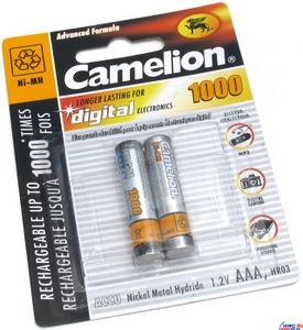 """Аккумулятор Camelion NH-AAA1000-2 (1.2V, 850mAh) NiMH, Size """"AAA"""" уп. 2 шт."""