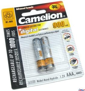 """Аккумулятор Camelion NH-AAA900-2 (1.2V, 900mAh) NiMH, Size """"AAA"""" уп. 2 шт."""