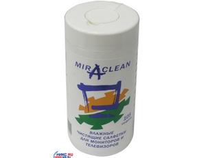 Miraclean 24099 Влажные чистящие салфетки в пластиковой тубе для мониторов и телевизоров (105шт.)