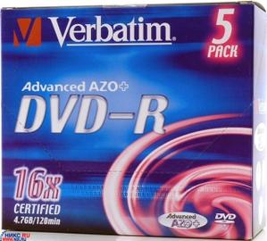 Verbatim DVD-R Disc Verbatim 4.7Gb 16x 43547/43557