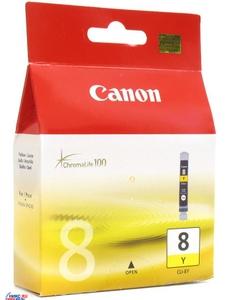 Canon Чернильница Canon CLI-8Y Yellow для PIXMA IP4200/5200 (R)/6600D, MP500/800
